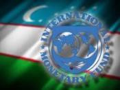 Флаг РУз и эмблема МВФ